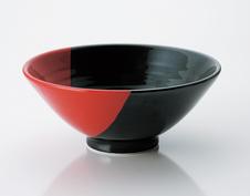 黒朱掛分け 蔵丼 (軽量強化磁器)。