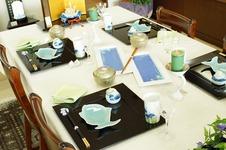 季節のテーブルコーディネイトを常時展示しています。