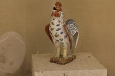 色絵 鶏 置物 (江戸前期)