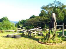 手作りの「里山公園」です。高台にあるため、有田町を一望できますよ。