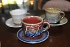 『古武雄kodakeo』展 期間中に提供する武雄焼のコーヒーカップ。