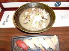 お昼のサービスメニュー<br />自家製ちゃんぽんセット<br />¥1,000(税抜)