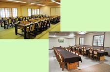 洋室和室とも全席テーブル&椅子席です。和室40名様、洋室90名様収容できます。