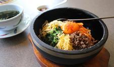 石焼ビビンバ(かむら特製味噌付き) ¥1,000(税別)