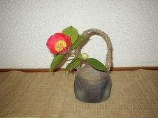 焼締扁壺<br />野の花が似合う器です