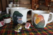 かわいい動物の絵柄のマグは、スープやシリアルにぴったりです。<br />プレゼントにも喜ばれています。