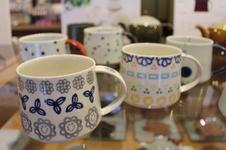 アングルマグ<br />軽量で持ちやすく、重ねて収納もできる藍土オリジナルマグカップです。<br />女性好みの可愛い絵柄のものをたくさん取り揃えています。