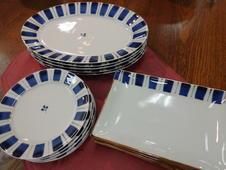 呉須十草シリーズ<br />染付のブルーが絶妙な色合いの呉須十草シリーズは、料理を選ばず様々なシーンで活躍してくれます。