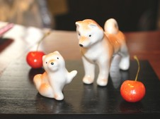 『親子柴犬』<br />人気の犬の中でもNo.1!<br />※チェリーは実物です。