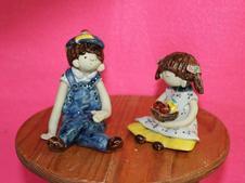 陶人形『男の子』『女の子』
