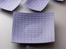 『練上焼締波文四方鉢』<br />日本陶芸展に入選した焼締の評価の高い作品です。