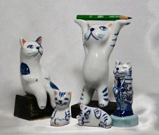 陶雑貨(猫のオブジェ、アクセサリーなど)