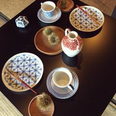季節のお題でテーブルセッティングのデコレーションもしております。