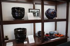 青木龍山氏の貴重な作品が展示されています。